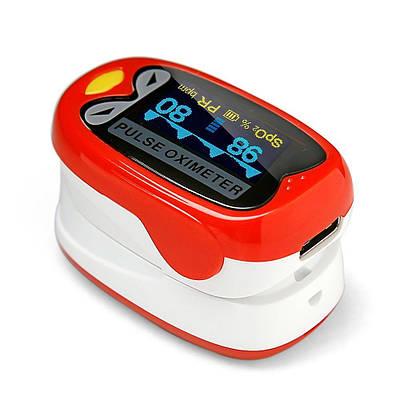Детский пульсоксиметр на палец для измерения пульса и сатурации крови BOXYM oKids Красный (MAS40501)