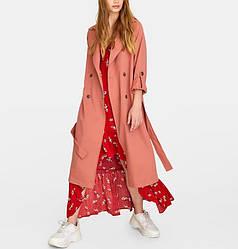 Плащ женский с поясом и регулировкой рукава Coral Berni Fashion (S)
