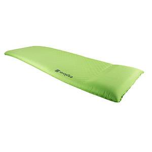 Коврик самонадувающийся с подушкой туристический Highlander Explorer Self Inflate Green