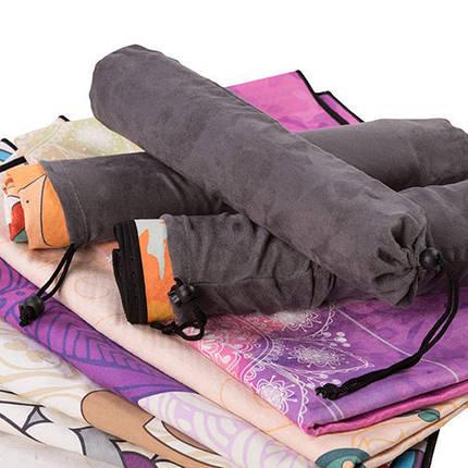 Коврик для йоги и фитнеса Suede Silicon, 185*67 см, чехол, фото 2