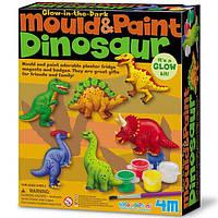 Набор для творчества 4M Магниты из гипса Динозавры (00-03514), фото 1
