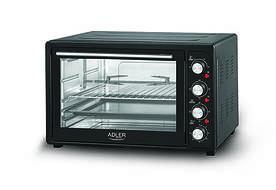 Электрическая печь духовка Adler AD 6010 45л 2000W Black (111484)