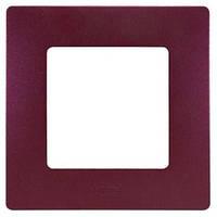 Рамка 1-постовая «Этика» – «Легранд», цвет «сливовый»