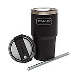 Термочашка з соломинкою Stanley Adventure Quencher  0.6 л Чорна, фото 4