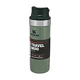 Термочашка Stanley Classic Trigger-action Hammertone Green 0.47 л, фото 5