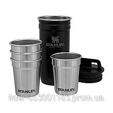 Набір Stanley Adventure Combo Matte Black: фляга та 4 рюмки