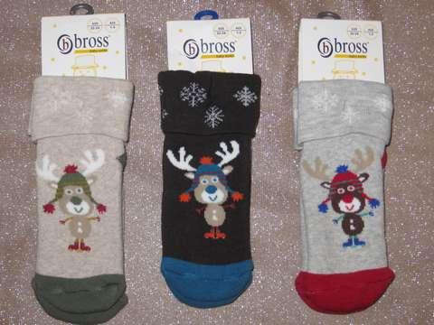 Шкарпетки для новонароджених махрові 9680 оленя