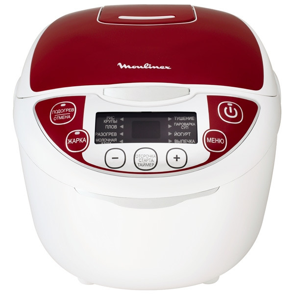 Мультиварка Moulinex MK705132 Белый с красным (61531)