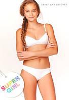 Комплект нижнего белья для девочки подростка: бюстгальтер и трусики слип. Все размеры. Украина.