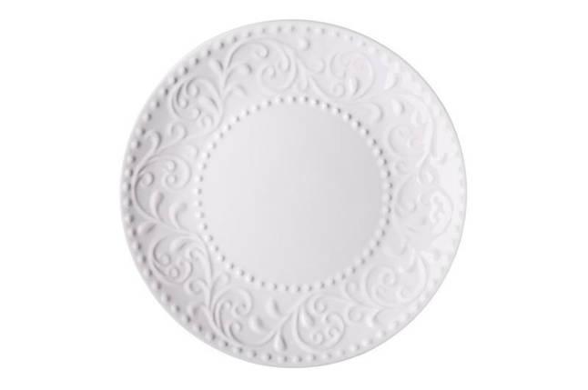 Тарелка десертная Ardesto Olbia White AR-2919-WC 19 см, фото 2