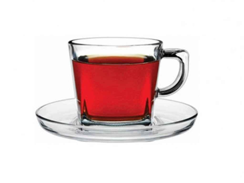 """Набор чашек для чая с блюдцем 210 мл Baltic упаковка 6 шт """"Pasabahce"""""""