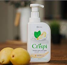 """Засіб для миття посуду GRASS """"Crispi"""" (пінка з груші і екстрактом базиліка) 550мл 125455"""