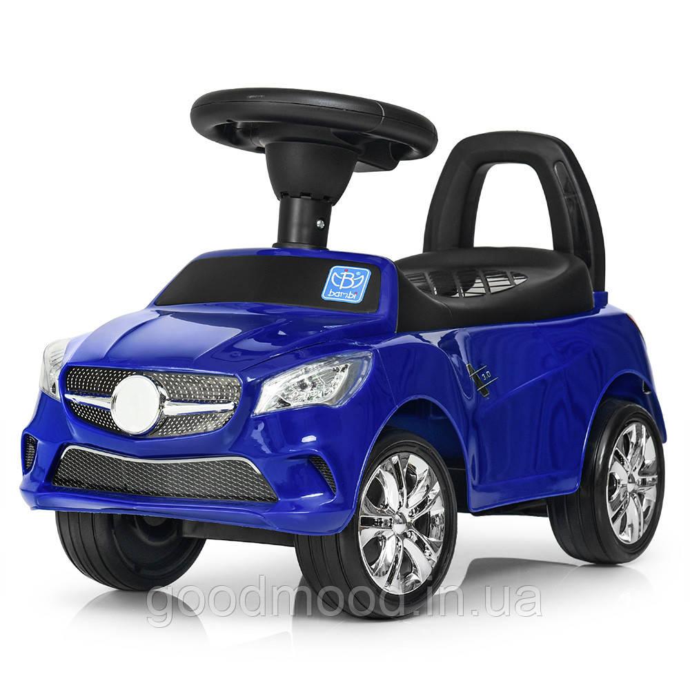 Каталка-толокар M 3147C (MP3)-4 MP3, багажник під сидінням, муз., бат., синій, 63,5-37-29 см.