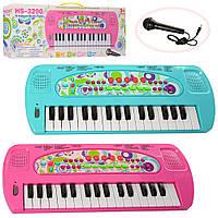 Синтезатор HS3290AB 32 клавіші, 8 тонів, запис, мікрофон, 2 види, бат., кор., 43,5-16,5-6 см