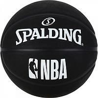 Баскетбольный мяч 7 размер SPALDING для улицы любительский СПАЛДИНГ NBA Резина Черный (30015950117)