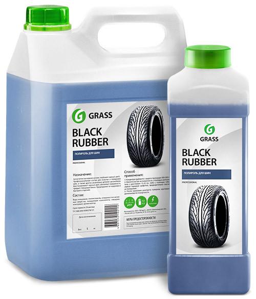 Чорнитель для шин GRASS Black Rubber на водній основі 5л 121101