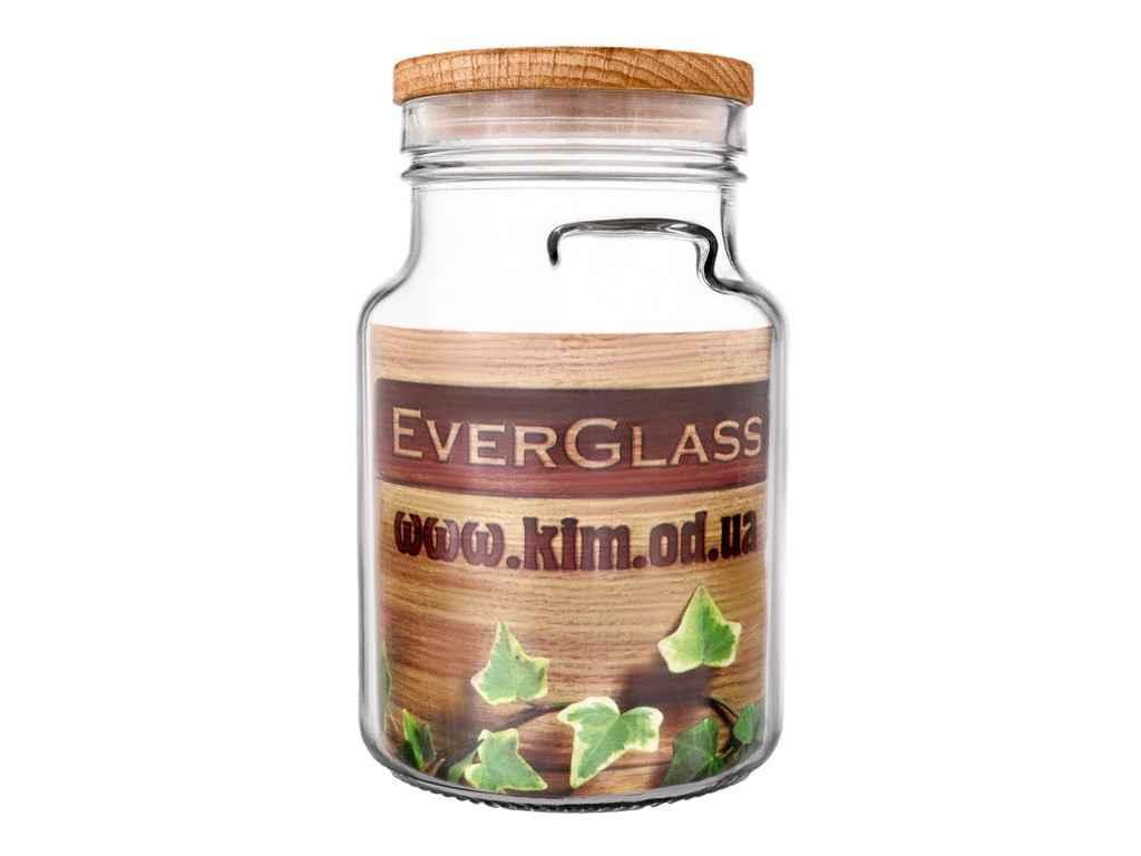 Банка стеклянная с крышкой Everglass 900 мл упаковка 6 шт