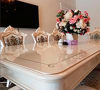 Мягкое стекло силиконовая прозрачная скатерть на стол, ПВХ Силиконовая скатерть 0.6 мм 100*60 см, фото 1