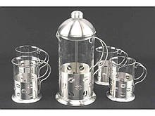 Набор френч-пресс со стаканами А-Плюс 5 предметов (1030)