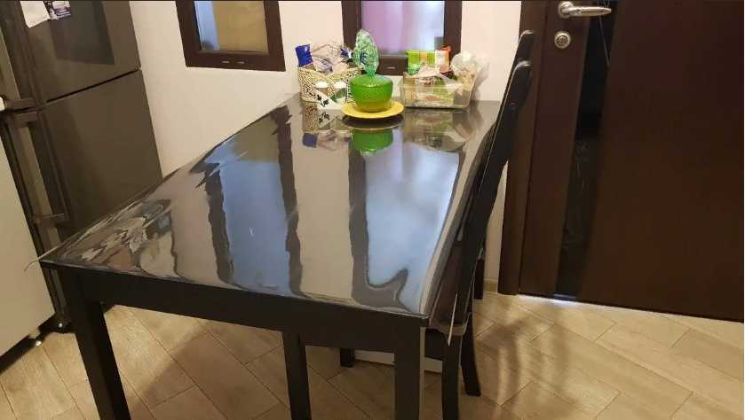 Мягкое стекло силиконовая прозрачная скатерть на стол, ПВХ Силиконовая скатерть 1 мм 160*90 см