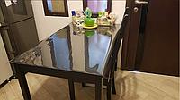 Мягкое стекло силиконовая прозрачная скатерть на стол, ПВХ Силиконовая скатерть 1 мм 160*90 см, фото 1