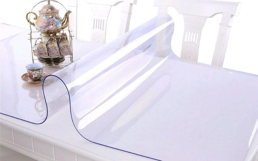 Мягкое стекло силиконовая прозрачная скатерть на стол, ПВХ Силиконовая скатерть 2.5 мм 110*70 см