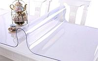 Мягкое стекло силиконовая прозрачная скатерть на стол, ПВХ Силиконовая скатерть 2.5 мм 110*70 см, фото 1