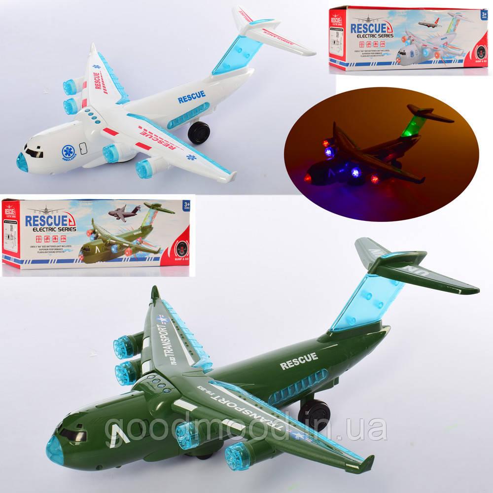 Літак JYD179A-1 їздить, 2 види, муз., світло, бат., кор., 32,5-10-8,5 см.