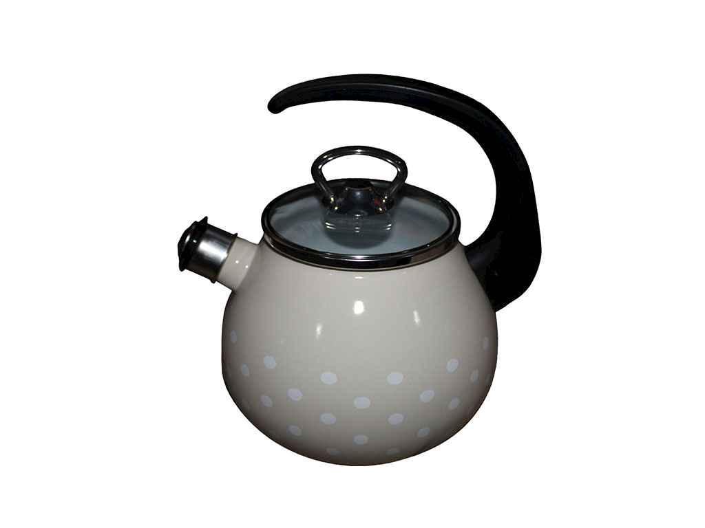 Чайник эмалированный Idilia Саксония бежевый 2,5 л (I82711)