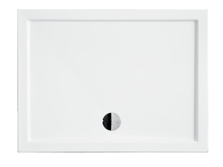 Душевой прямоугольный акриловый поддон ALPINA-2 NEW 120х80х5,5 BESCO PMD PIRAMIDA ультратонкий - Сантех СТИЛЬ магазин сантехники и мебели для ванных комнат в Одессе