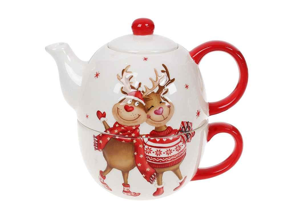 Чайный набор керамика BonaDi Новогодние олени