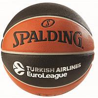 Баскетбольный мяч 7 размер SPALDING для улицы любительский СПАЛДИНГ Евролига Коричневый (TF-500-EL_7), фото 1