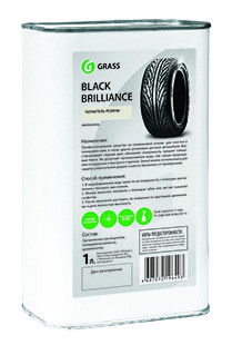 Чернитель шин GRASS Black Brilliance на силіконовій основі 1л 125100