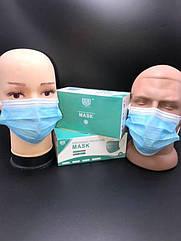 Захисна маска тришарова з фіксатором