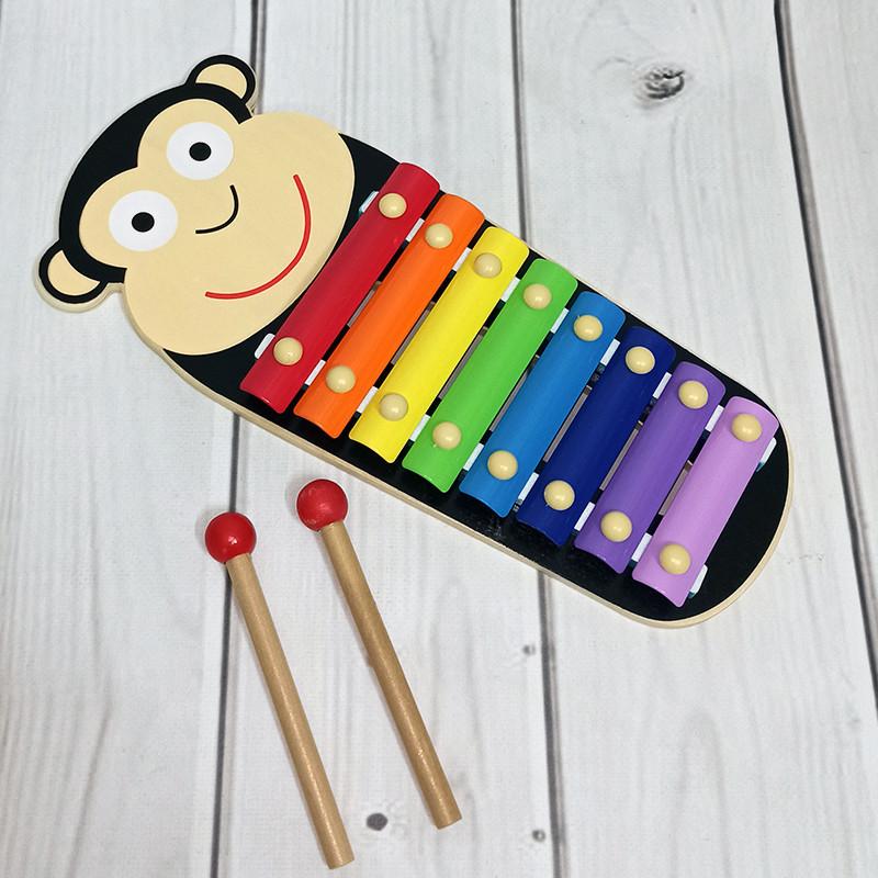 Детская деревянная музыкальная игрушка Ксилофон MD 2377