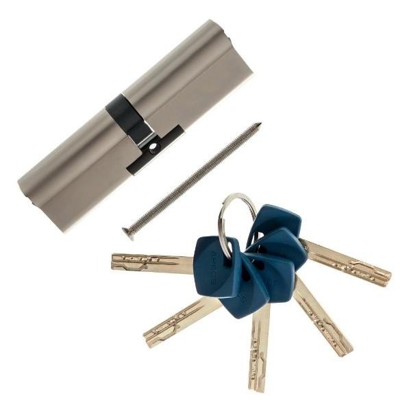 Цилиндровый механизм Apecs Premier XR-60(30х30)-Ni никель ключ/ключ