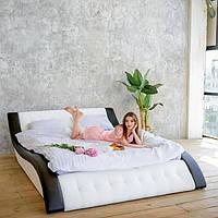 """М'яка двоспальне ліжко """"Клео"""" без підйомного механізму 180*200, фото 1"""