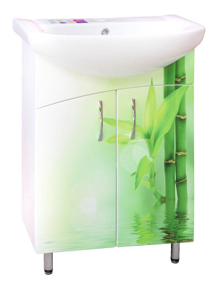 Тумба Декор Бамбук (53,1 див.) під умивальник Libra 60см (БЕЗ УМИВШИ.)
