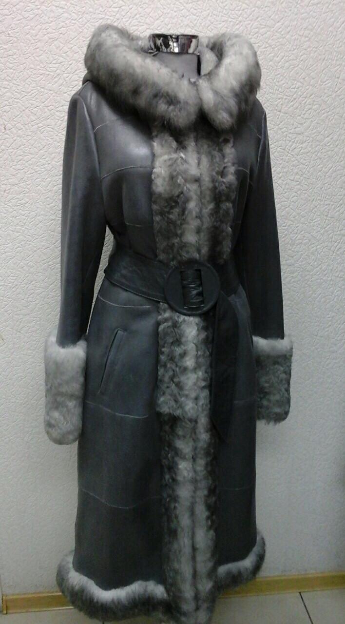 Дубленка натуральная женская Marengo длинная снегурочка
