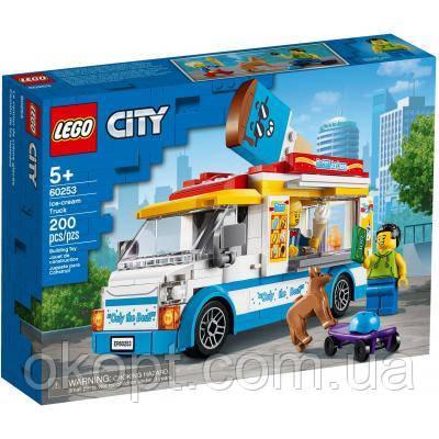 Конструктор LEGO City Great Vehicles Грузовик мороженщика 200 деталей (60253)