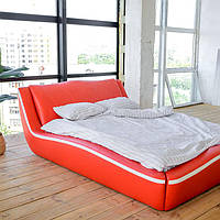 """Мягкая двуспальная кровать """"Лотос"""" с подъёмным механизмом 140*200, фото 1"""