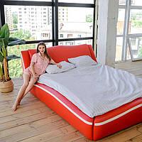 """Мягкая двуспальная кровать """"Лотос"""" без подъёмного механизма 200*200, фото 1"""