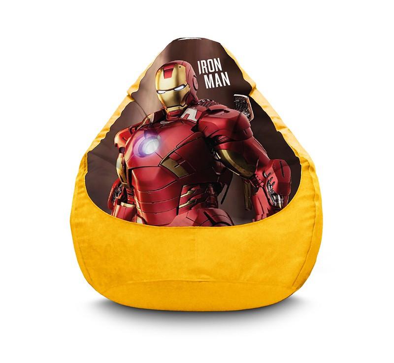 """Кресло мешок груша """"Iron Man. Warrior"""" Флок"""