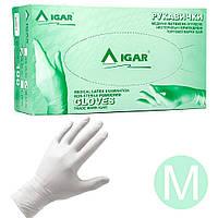 Перчатки латексные IGAR опудренные 100 шт, M, Белые