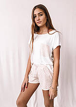 Пижама женская MODENA P112 M Белый с бежевым