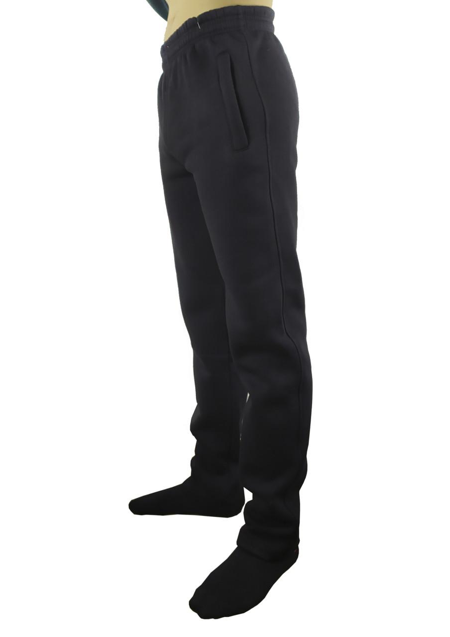 Спортивные мужские штаны на флисе без манжет S, M, L, XL, XXL