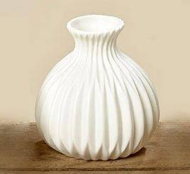 Ваза керамическая Эско белая  h 11 см