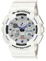 Спортивные мужские наручные часы Casio G-Shock ga-100 реплика, белые, 11 функций, наручные часы, G-SHOCK,