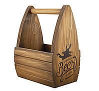 Ящик для пива дерево 36 см