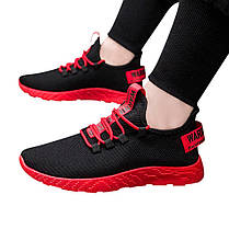 Удобные мужские кроссовки с красной подошвой, фото 3